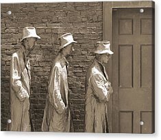 Franklin Delano Roosevelt Memorial - Bits And Pieces1 Acrylic Print by Mike McGlothlen