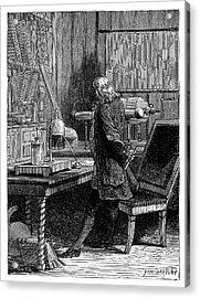 Franklin In His Laboratory Acrylic Print