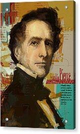 Franklin Pierce Acrylic Print