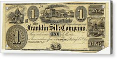 Franklin Silk Company Bank Note Acrylic Print by American Philosophical Society