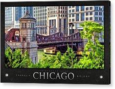 Franklin Street Bridge Poster Acrylic Print