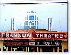 Franklin Theatre Acrylic Print by Anthony Jones