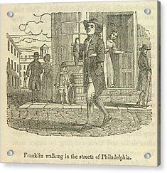 Franklin Walking In Philadelphia Acrylic Print