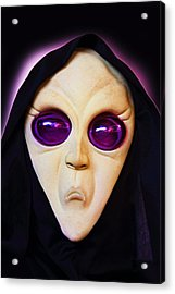 Franks Spooky Face Acrylic Print by Linda Phelps