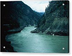 Fraser River Acrylic Print by Dick Willis