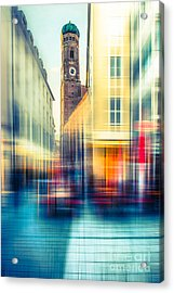 Frauenkirche - Munich V - Vintage Acrylic Print