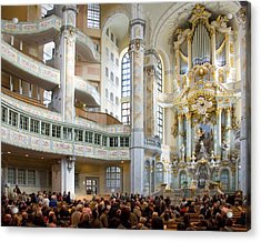 Frauenkirche Acrylic Print by William Beuther