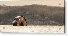 Acrylic Print featuring the photograph Frechman Barn - Winter by Wayne Meyer