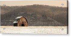 Frechman Barn - Winter Acrylic Print by Wayne Meyer