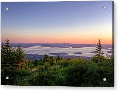 Frenchman's Bay From Cadillac Mountain Acrylic Print