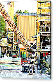 Acrylic Print featuring the photograph Fred And Barney At Work The Quarry At Ashcom Pa by Mary Beth Landis