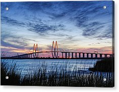 Fred Hartman Bridge At Twilight Hour Acrylic Print