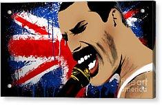 Freddie Mercury Acrylic Print by Mark Ashkenazi