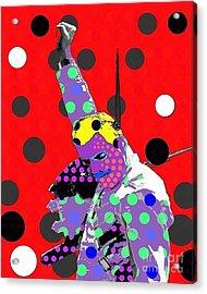 Freddie Mercury Acrylic Print by Ricky Sencion