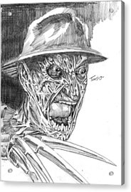 Freddy Acrylic Print by Christopher Torres