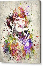 Freddy Krueger In Color Acrylic Print by Aged Pixel