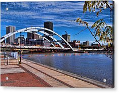 Frederick Douglas-susan B Anthony Bridge Rochester Ny Acrylic Print