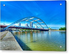 Frederick Douglass Susan B. Anthony Memorial Bridge Acrylic Print