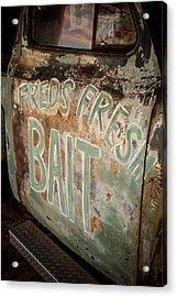 Freds Fresh Bait Acrylic Print by Paul Bartoszek