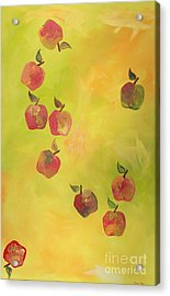 Free Apples Acrylic Print by PainterArtist FIN