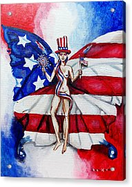 Free As Independence Day Acrylic Print by Shana Rowe Jackson