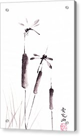 Free As The Dragonflies Acrylic Print