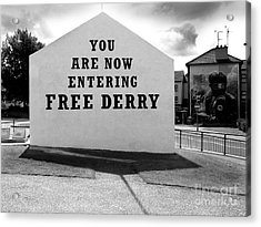 Acrylic Print featuring the photograph Free Derry Corner by Nina Ficur Feenan