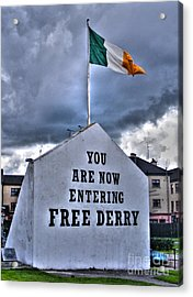 Free Derry Wall Acrylic Print