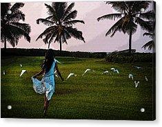 Free Like The Birds Acrylic Print by Jenny Rainbow