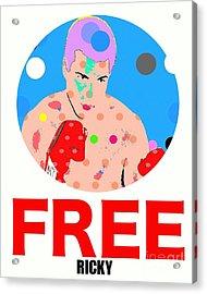 Free Ricky Acrylic Print by Ricky Sencion