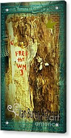Free The West Memphis 3 Acrylic Print by Joshua Brown