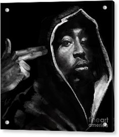 Free Will - 2 Pac Acrylic Print by Reggie Duffie