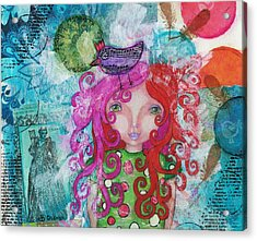 Free Yourself Acrylic Print by Barbara Orenya