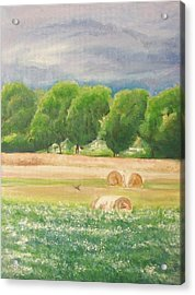 Acrylic Print featuring the painting Freedom by Jane  See
