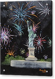 Acrylic Print featuring the painting Freedom by Judith Rhue