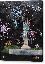 Freedom Acrylic Print by Judith Rhue