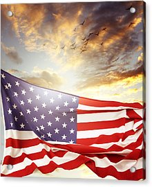 Freedom Acrylic Print by Les Cunliffe