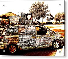 Freedom Of Speech On Wheels Acrylic Print