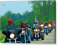 Freedom Riders Having So Much Fun Acrylic Print by Tina M Wenger