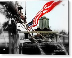 Freedom Sails Acrylic Print by Michael Hoard