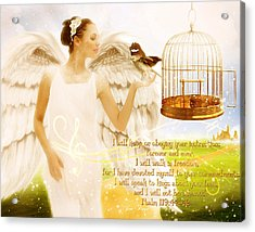 Freedom Song With Scripture Acrylic Print