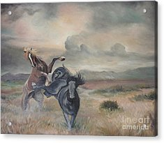 Acrylic Print featuring the painting Freedom by Sorin Apostolescu