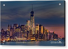 Freedom Tower Construction End Of 2013 Acrylic Print by Jerry Fornarotto
