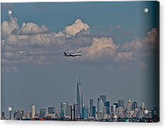 Freedom Tower Fly By Acrylic Print by Douglas Adams