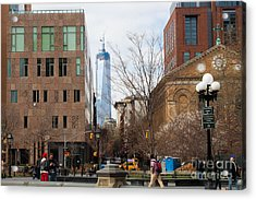 Freedom Tower From Washington Square Acrylic Print