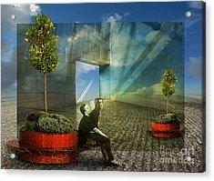 Freedom Window Acrylic Print by Rosa Cobos