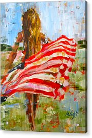 Freedom's Charge Acrylic Print by Molly Wright