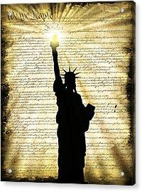 Freedoms Light Acrylic Print by Daniel Hagerman