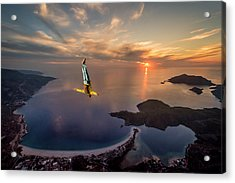 Freefalling With Guillaume Galvani Acrylic Print