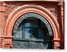 Acrylic Print featuring the photograph Freemason Hall Savannah by Allen Carroll